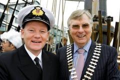 Kapitän Brian Sheridan und Paul T.Shelly Lizenzfreies Stockbild
