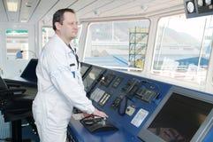 Kapitän der Ozeanlieferung Lizenzfreie Stockfotografie