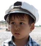 Kapitän des kleinen Jungen Lizenzfreies Stockfoto