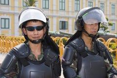 kapitał zbiegający się demonstranci tajlandzcy Zdjęcie Royalty Free
