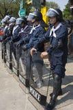 kapitał zbiegający się demonstranci tajlandzcy Obraz Royalty Free