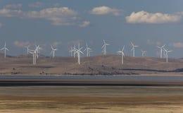 Kapitałowy wiatrowy gospodarstwo rolne. Bungendore. NSW. Australia. obrazy royalty free