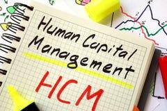 Kapitału ludzkiego zarządzanie HCM Obrazy Royalty Free
