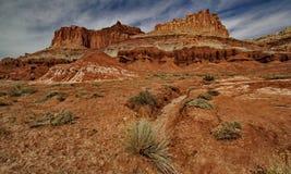 kapitału przejażdżki wąwozu uroczysta park narodowy rafa sceniczna Utah obmycie Zdjęcia Stock