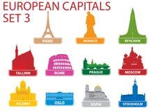 kapitałowi europejscy symbole Zdjęcia Stock