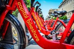 Kapitałowy Bikeshare roweru udzielenia program Obrazy Royalty Free