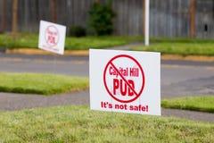 Kapitałowy wzgórza PUD protest Zdjęcia Royalty Free