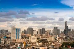 Kapitał Tajlandia Bangkok od wzrosta, niebieskie niebo Fotografia Royalty Free
