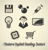 Kapitału Inwestycyjnego finansowania sektory Obrazy Stock