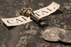 kapitału klucz zdjęcia royalty free
