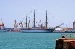 kapitaal ¡ van veleros het Engelse puerto DE Cà diz España Royalty-vrije Stock Fotografie