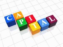 Kapital in der Farbe Stockbilder
