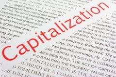 Kapitalisatie stock afbeeldingen