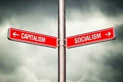 Kapitalisme of Collectivismeconcept stock fotografie