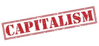 Kapitalizm czerwieni znaczek ilustracja wektor