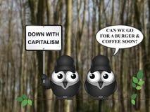 Kapitalizm demonstracja royalty ilustracja