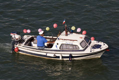 Kapitan łódź na karnawale Zdjęcia Royalty Free