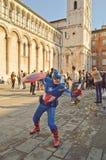 Kapitan Ameryka przy Lucca komiczkami 2014 i grami Zdjęcia Stock
