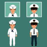 kapitan i żeglarz Zdjęcie Stock