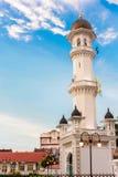 Kapitan Keling清真寺在乔治市,槟榔岛,马来西亚 免版税库存照片