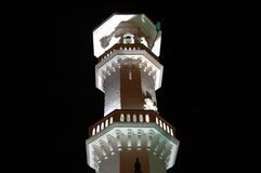 Kapitan Keling mosque minaret at night Stock Photos