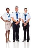 Kapitan linii lotniczej załoga fotografia stock