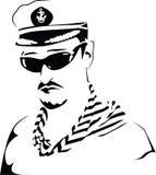 kapitan morza wektora obrazy stock