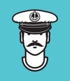 Kapitanu avatar wektoru ikona ilustracji