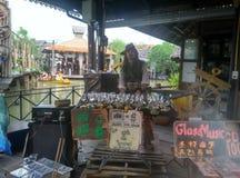 Kapitanu Jack podróży wróblich Wakacyjnych styl życia Tajlandia Denny uliczny jedzenie obrazy royalty free