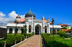 Kapitanu Keling meczet w George Town fotografia stock