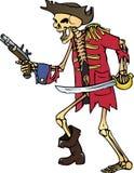 kapitanu kościec Obraz Royalty Free