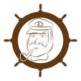 kapitanu logo Zdjęcie Royalty Free