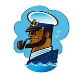 kapitanu morze Obrazy Royalty Free