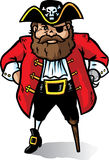 kapitanu pirat Zdjęcie Royalty Free