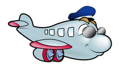 kapitanu samolot Zdjęcia Royalty Free