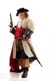 kapitanu wyzywająca pirata poza Fotografia Royalty Free