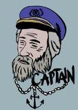 kapitein Royalty-vrije Stock Afbeeldingen