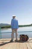 Kapitein in de toeristenreis royalty-vrije stock foto's