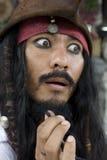 Kapitein Jack Sparrow, Piraten van de Caraïben stock afbeelding