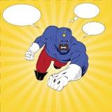 Kapitein Punch Superhero Royalty-vrije Stock Afbeelding