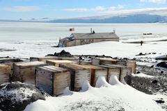 Kapitein Scotts Hut, Antarctica Royalty-vrije Stock Fotografie