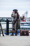 Kapitein van een piraatschip stock fotografie