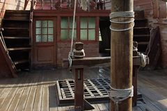 Kapiteins` s cabine en dek Stock Foto
