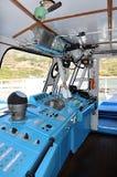 Kapiteins` s ruimte op de boot Stock Fotografie