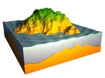 Kapitel der Insel 3d getrennt auf weißem Hintergrund Lizenzfreies Stockfoto