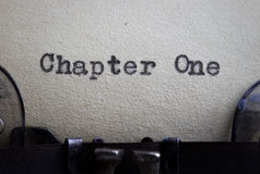 Kapitel eins Stockfoto
