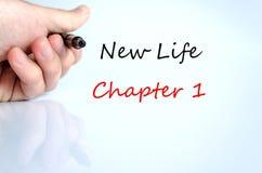 Kapitel 1 för liv för textbegrepp nytt Royaltyfria Bilder