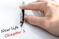 Kapitel 1 för liv för textbegrepp nytt Arkivbilder