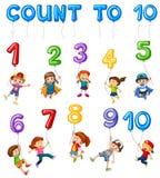 Kapitel för matematikkortCouting nummer royaltyfri illustrationer