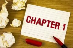 Kapitel 1 för ordhandstiltext Affärsidé för att starta något som är ny eller framställning av de stora ändringarna i en s-resa sk royaltyfri bild